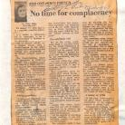 "Article du journal The Ottawa Citizen intitulé ""For Ontario's French: No time for complacency"", par Tracy Morey, le 26 mars 1969"